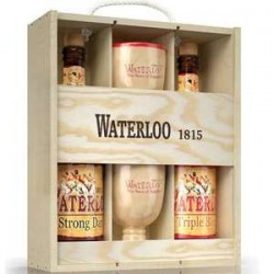 Estuche Waterloo 2X75Cl + 2 Vasos