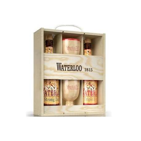 Estuche Waterloo 2X75Cl + 2 Vasos