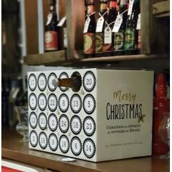 Estuche Calendario Adviento para Cervezas(Sólo el cartón)