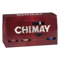 Estuche Chimay Trilogy 3*33 Cl + 1 Vaso