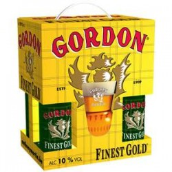 Estuche Gordon Finest Gold 4*33Cl+Vaso