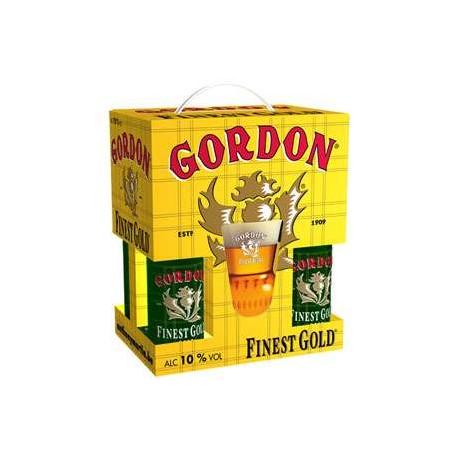 Estuche Gordon Finest Gold 4*33Cl+Vaso